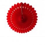 Leque de Papel Vermelho 20cm