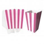 Caixas para Pipoca Listrado Rosa Pink