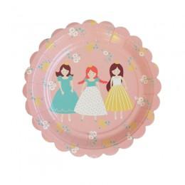Prato de Papel Princesas 19cm