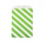 Saquinhos de Papel Verde Limão Oblíquo