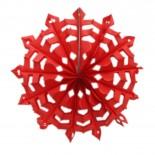 Floco de Neve de Papel Vermelho 35cm