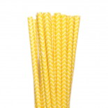 Canudos de Papel Zig Zag Amarelo