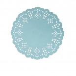 Toalha de Papel Rendada Azul 11,5cm