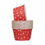 Forminhas para Cupcake Forneáveis Vermelho Estrela