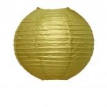Luminária de Papel Dourada 25cm