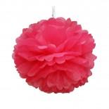 Pompom de Papel de Seda Rosa Pink 30cm