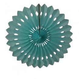Leque de Papel Azul Claro 40cm