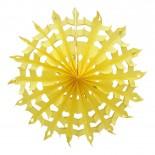 Floco de Neve de Papel Amarelo 35cm