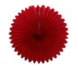 Leque de Papel Vermelho 30cm
