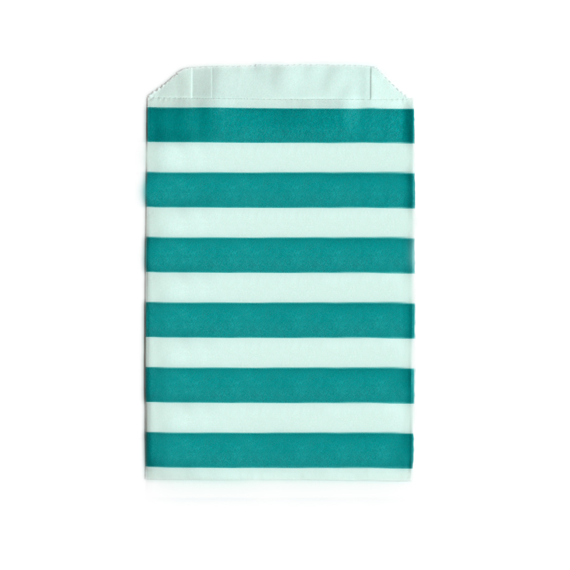 Saquinhos de papel azul turquesa listrado doce lulu for Papel pintado azul turquesa