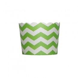 Forminhas para Cupcake de Papel Verde Limão Zig Zag