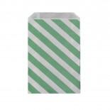 Saquinhos de Papel Verde Claro Oblíquo
