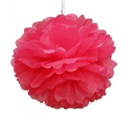 Pompom de Papel de Seda Rosa Pink 35cm