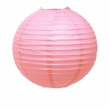 Luminária de Papel Rosa Claro 25cm
