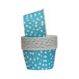 Forminhas para Cupcake Forneáveis Azul Poá