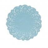 Toalha de Papel Rendada Azul 16,5cm