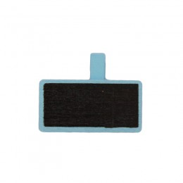 Mini Quadro Negro de Madeira Retangular Azul - Pequeno
