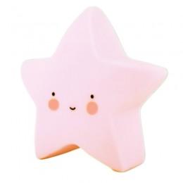 Luminoso Estrela Rosa de Plástico LED