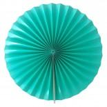 Leque de Papel Azul Tiffany 44cm