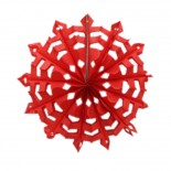 Floco de Neve de Papel Vermelho 25cm