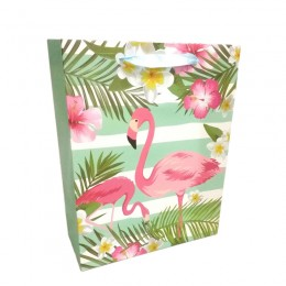 Sacola Flamingo Tropical