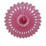 Leque de Papel Rosa Claro 40cm
