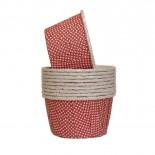 Forminhas para Cupcake Forneáveis Vermelho Mini Poá