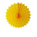 Leque de Papel Amarelo 20cm