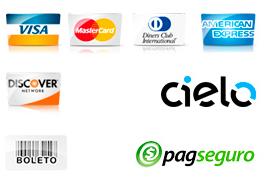 Cartão de Crédito - Boleto - Paypal