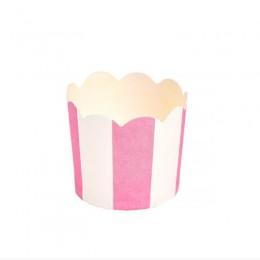 Forminhas para Mini Cupcake Rosa Vertical 20 uni