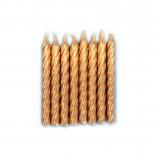 Vela Aspiral Dourada 8cm com 8un