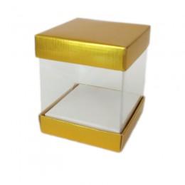 Caixa de PVC Dourada