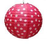 Luminária de Papel Poá Rosa Pink 25cm
