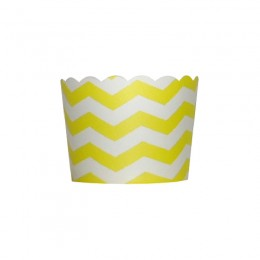 Forminhas para Cupcake de Papel Amarelo Zig Zag