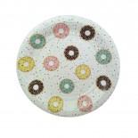 Prato de Papel Donuts 19cm