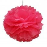 Pompom de Papel de Seda Rosa Pink 37cm