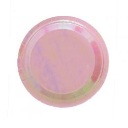 Prato de Papel Furta-Cor Rosa 18cm