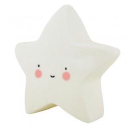 Luminoso Estrela Branca de Plástico LED