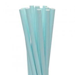 Canudos de Papel Azul Claro