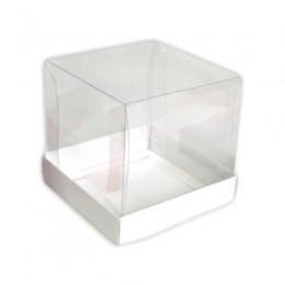 Caixa para Mini Bolo Branca 8,5x8,5x8,5 com 10 un
