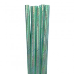 Canudos de Papel Furta-Cor Verde Claro 20 Uni
