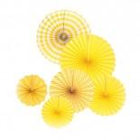 Conjunto Leque de Papel Amarelo