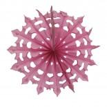 Floco de Neve de Papel Rosa Claro 35cm
