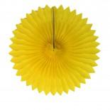 Leque de Papel Amarelo 40cm