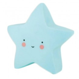 Luminoso Estrela Azul de Plástico LED