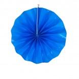 Leque de Papel Azul Royal Liso 20cm