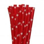 Canudos de Papel Estrela Vermelho