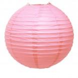Luminária de Papel Rosa Claro 35cm