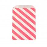 Saquinhos de Papel Rosa Pink Oblíquo