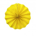Leque de Papel Amarelo Liso 20cm